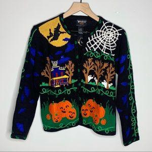Designers Originals Boo! Halloween Fall Sweater S